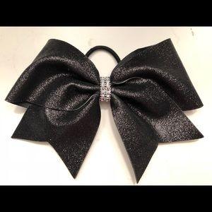 Brand new black sparkle cheer bow!!